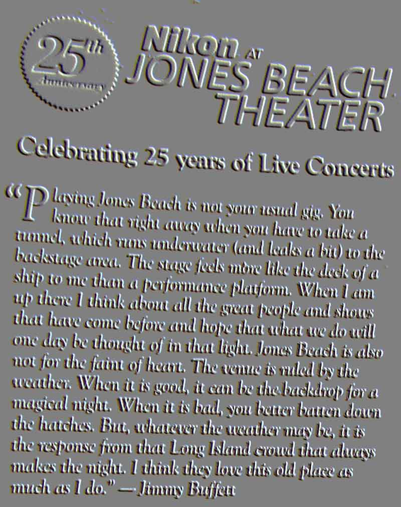 25th Anniversary Jones Beach Concerts