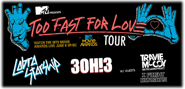 too fast for love tour Jones Beach