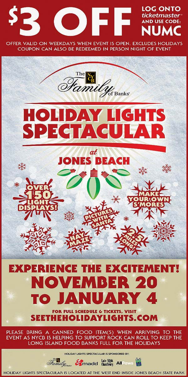 jones beach holiday lights discount - Jones Beach Christmas Light Show