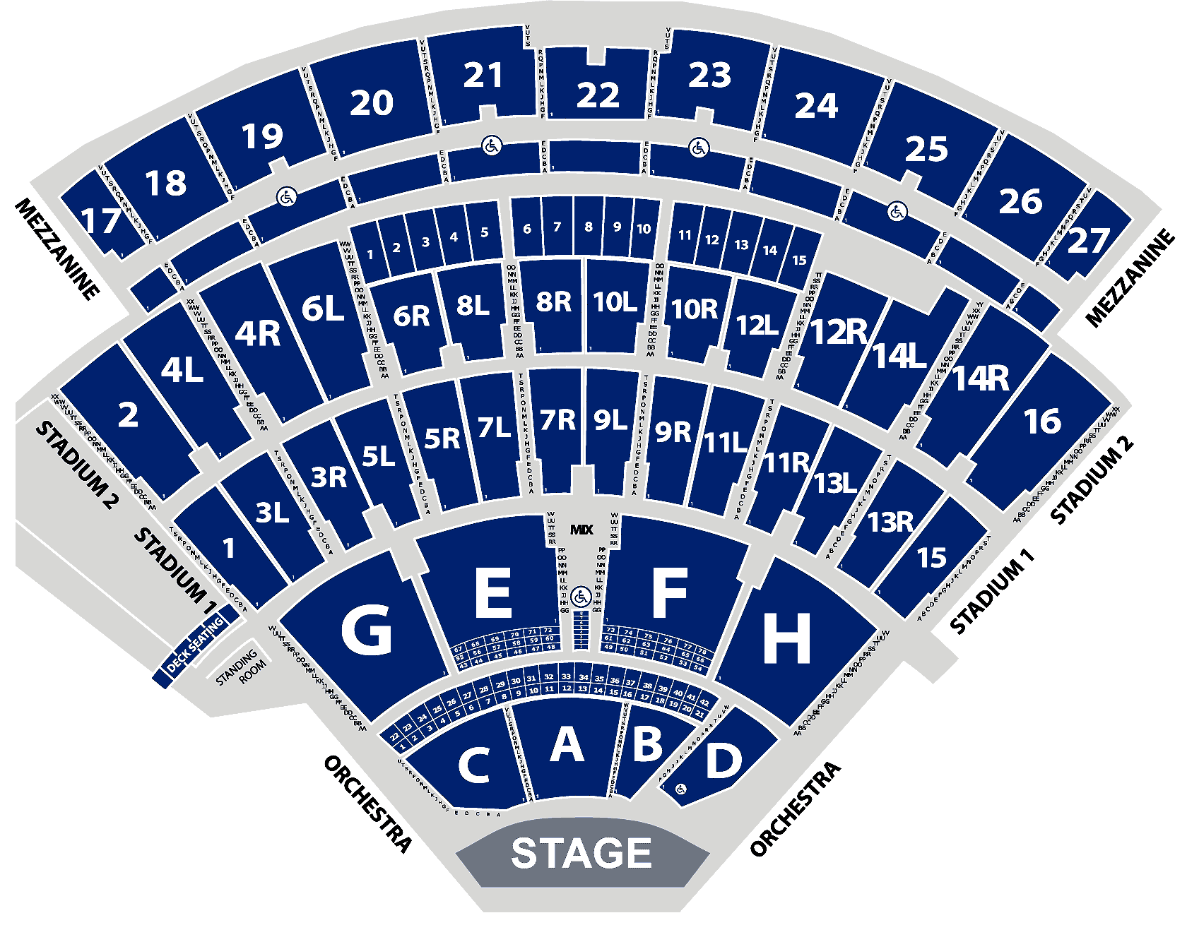 Seating Chart Enlarged 4k Aerial View Jones Beach Theater