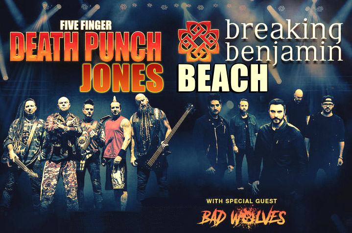 Five Finger Punch And Breaking Benjamin Have Released Separate Teasers For A Summer 2018 U S Co Headlining Tour That Will Also Feature Bad